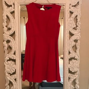 Red Back Keyhole French Connection Dress